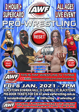 AWF PW Reset 8 Jan 21 Blacktown Poster W