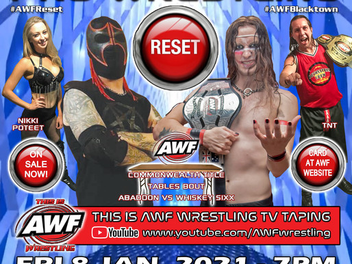 AWF Pro-Wrestling Reset Selling Fast & Poster Release