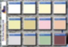 For Ever Homes Ltd standard colour chart