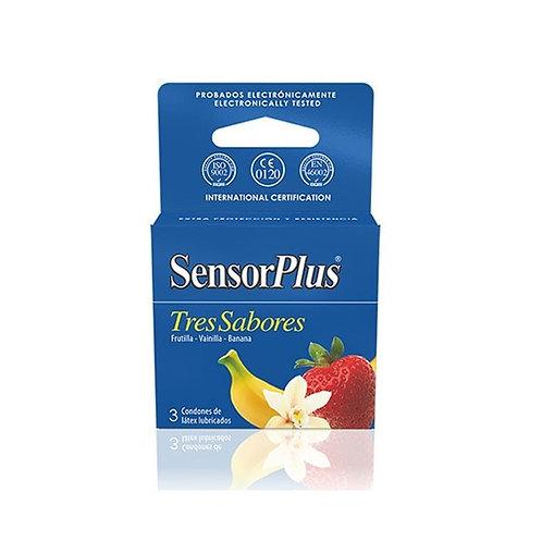 Preservativos Sensor Plus - Tres Sabores