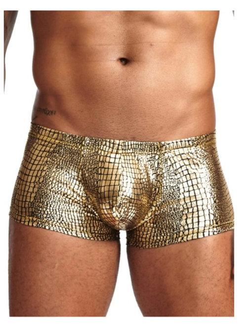 Boxer dorado animal print - Talla M