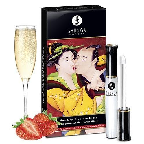 "Brillo Labial ""Divino Placer"" - Sabor Frutilla con champaña"