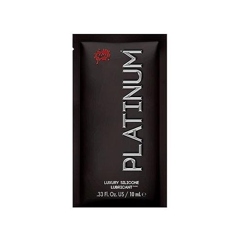 """Sachet de lubricante a base de silicona """"Platinium"""" - Marca Wet - 10 ml."""