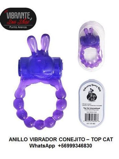 Anillo Vibrador Conejito Violeta - Marca Top Cat
