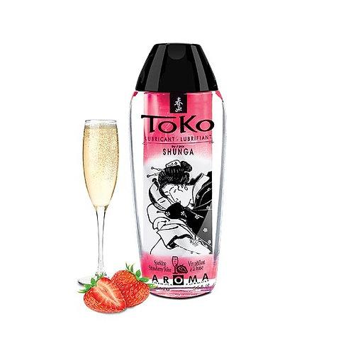 Lubricante TOKO SHUNGA - Sabor frutillas y champaña