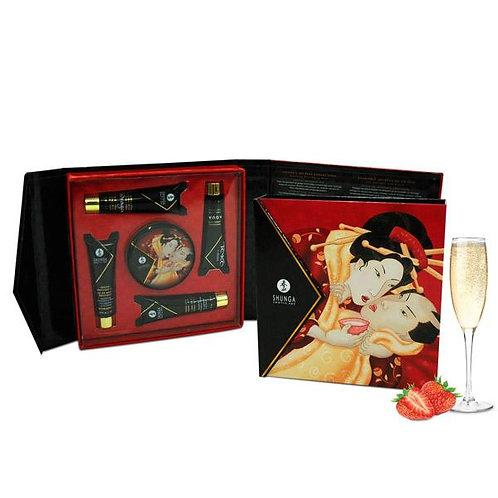 """Kit """"Secretos de la Geisha"""" - Marca Shunga - Frutillas con champaña"""