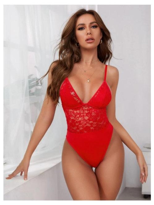 Body Rojo de encaje -  talla S