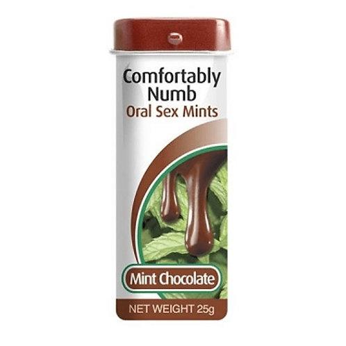 Pastilla para placer oral - sabor menta chocolate y efecto antiarcada