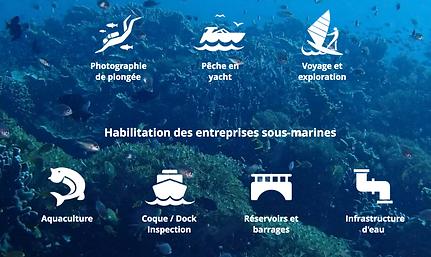 Utilisation des drones sous marin