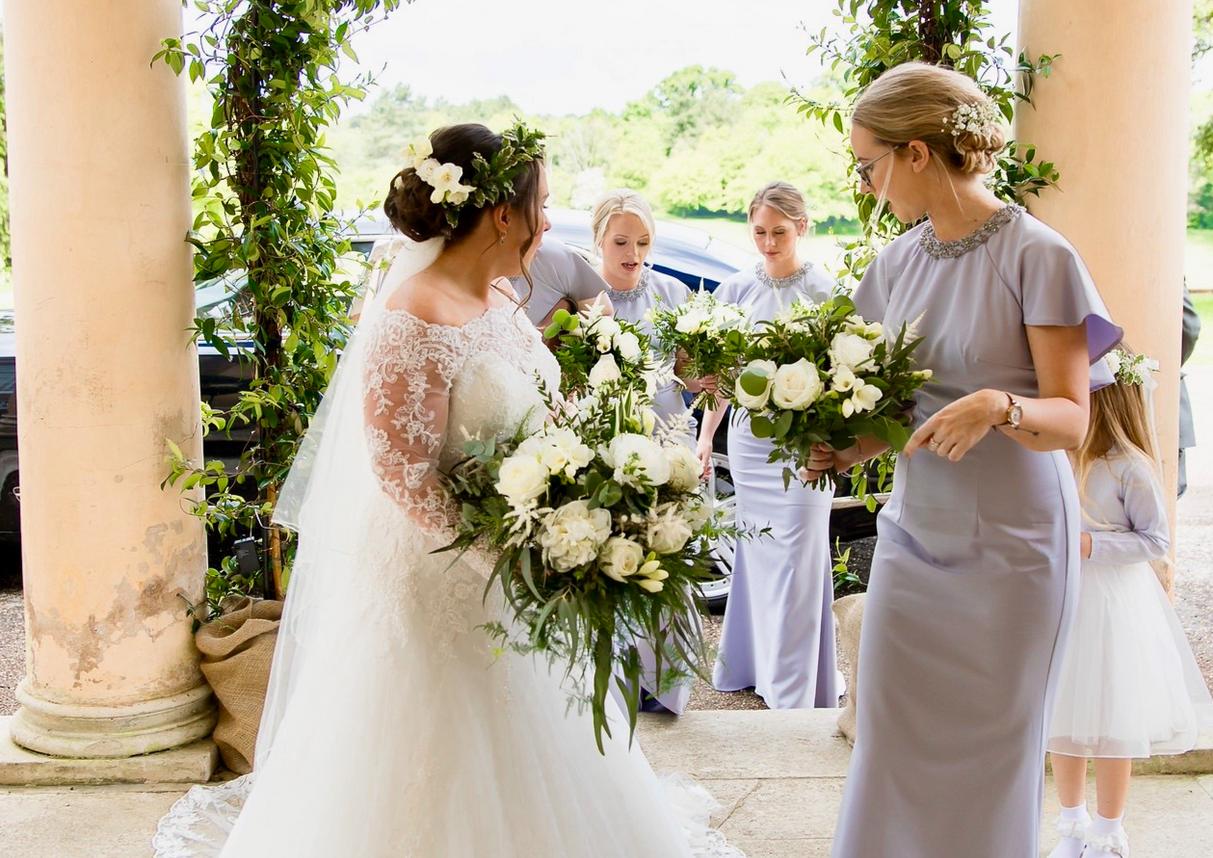 Real wedding - real greenery