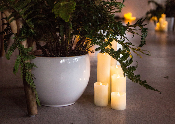 Ferns and candles