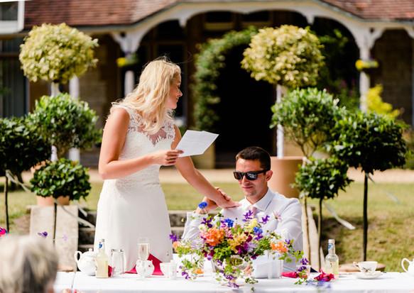 Formal topiary for garden wedding