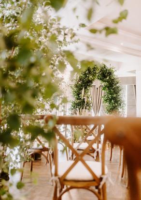 Sustainable wedding decor