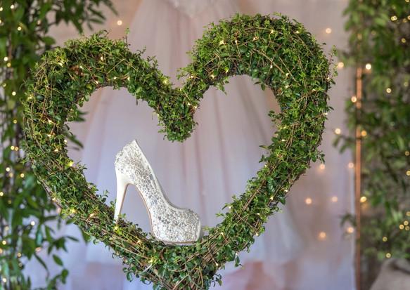 Real topiary wedding heart tree
