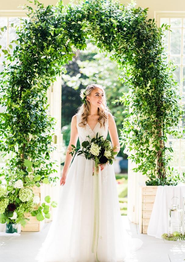 Stunning real Star Jasmine Wedding Arch