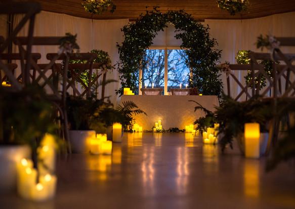 Botanical real wedding arch