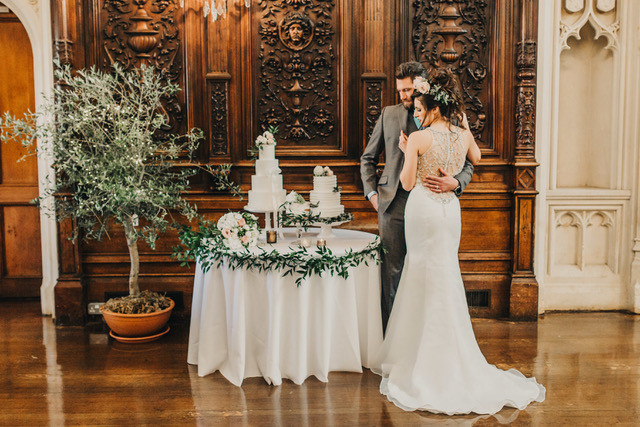Olive tree by cake table