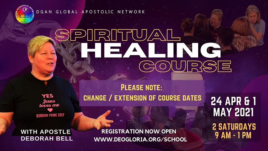 Spiritual Healing Course POSTER DATE CHA