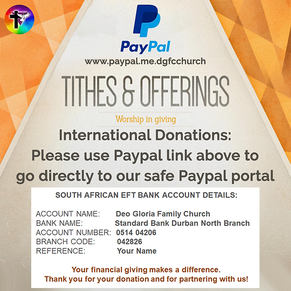 Tithes and Offerings for FB Donations -