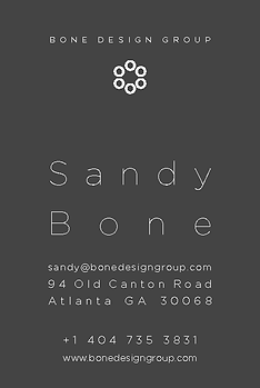 Sandy Bone business card