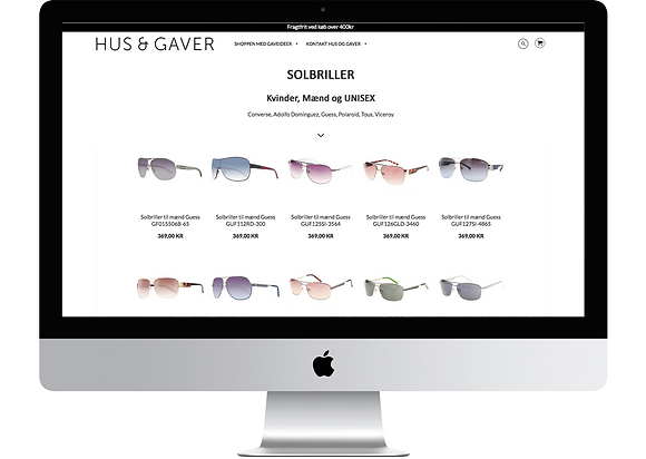 Hus og Gaver website