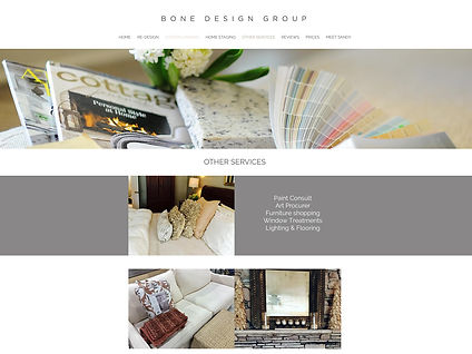 Bonedesigngroup website