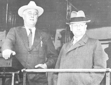 Image result for Harold Ickes with FDR