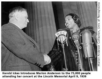 Ickes with Marian Anderson