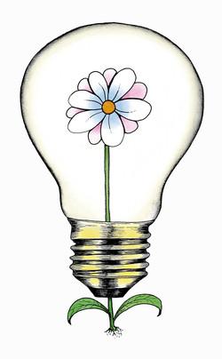 lampadina fiorita