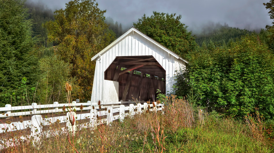Hayden Covered Bridge over Alsea River,