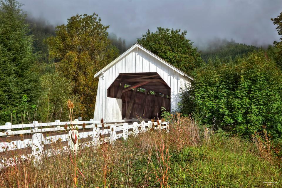 Hayden Covered Bridge over Alsea River,