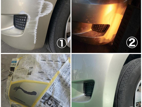 パッソ バンパー傷 鈑金塗装 修理
