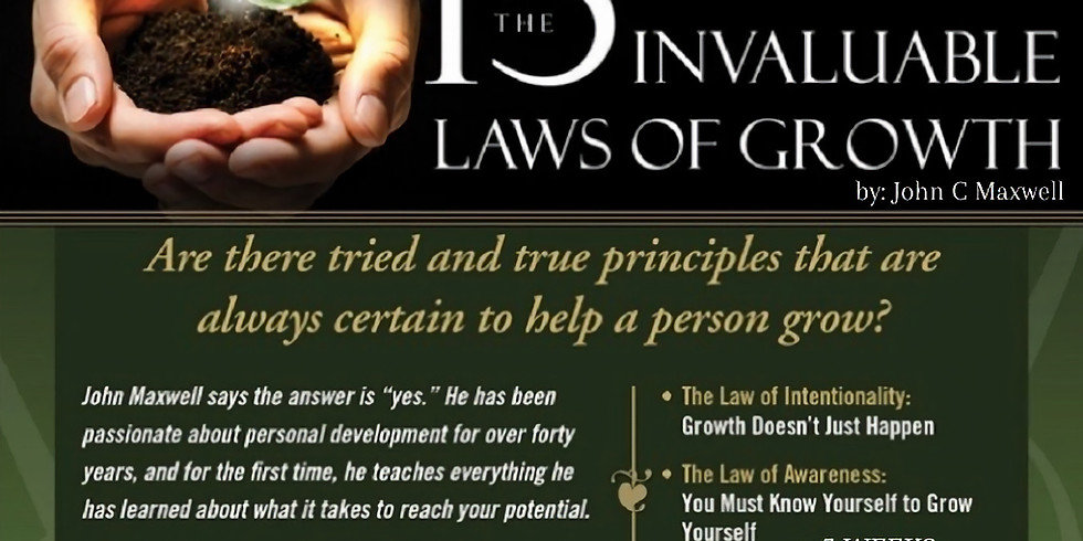 Virtual Mastermind Class| The 15 Invaluable Laws of Growth by John C Maxwell