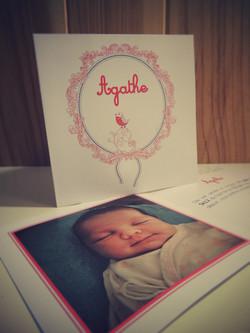 Faire-part naissance Agathe