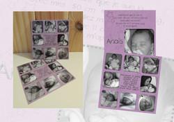 Faire-part naissance Anais