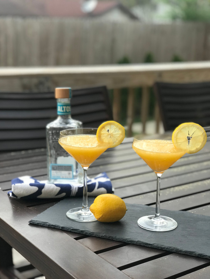 Life's A Peach Frozen Marg + Pro Cocktail Making Tips