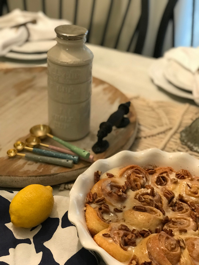 Homemade Cinnamon Rolls with a Twang