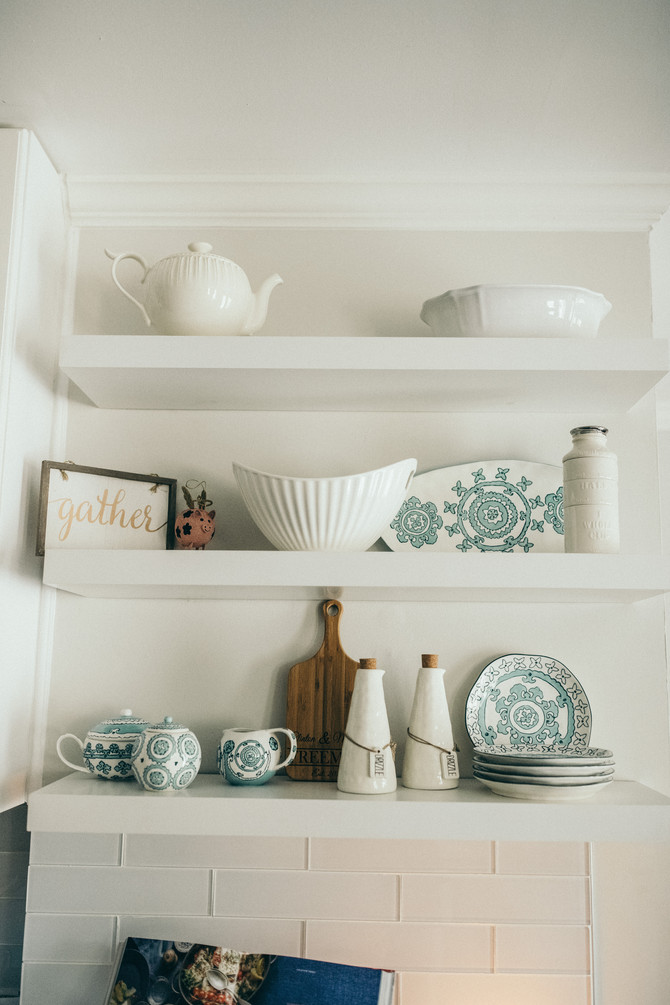 Styling Exposed Shelves