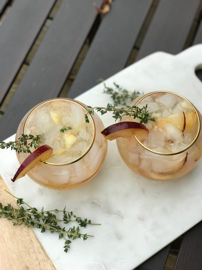 Apple Plum Prosecco Smash