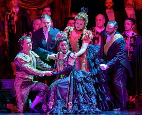 with Benjamin Hopkins, Benjamin Sieverding, Cecilia Violetta Lopez, and Kirsten Larson in Madison Opera's La Traviata 2019