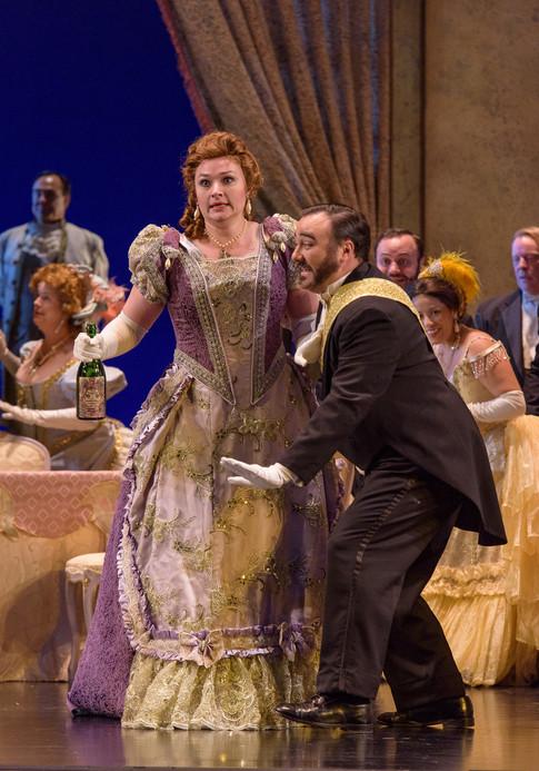 with Kirsten Larson in Madison Opera's La Traviata 2019
