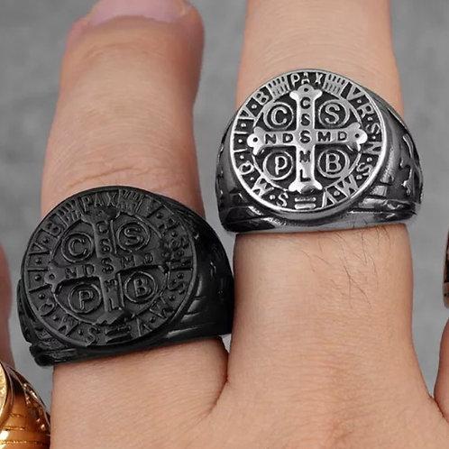 Catholic Cross Ring