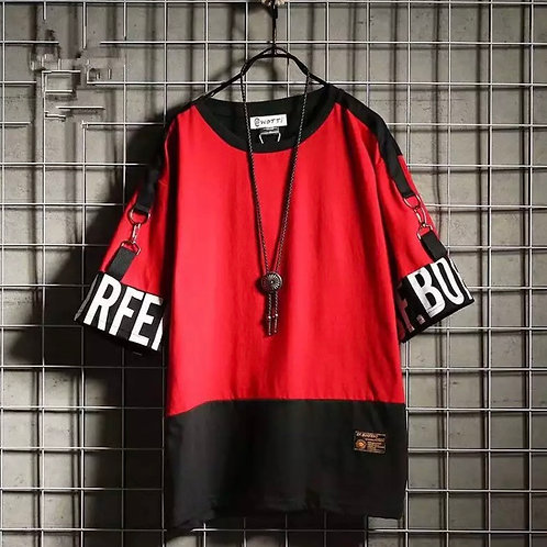 Red Strapped Tee Shirt