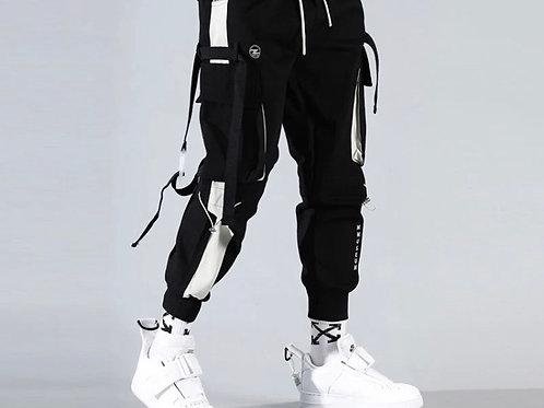 Whiten Strip Cargo Pants