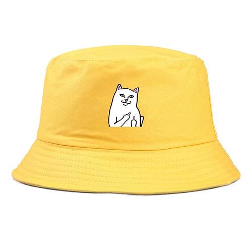 Cat on a Bucket Hat