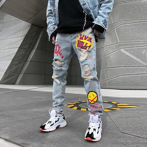 Men's Graffiti Jeans