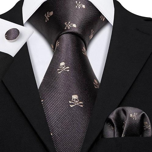 Skull Tie & Hankerchief
