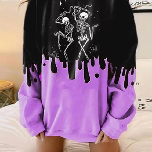 Drippy Skeleton Sweater
