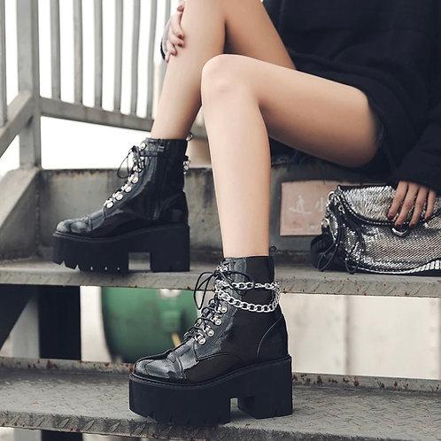 Chunky Chain Boots