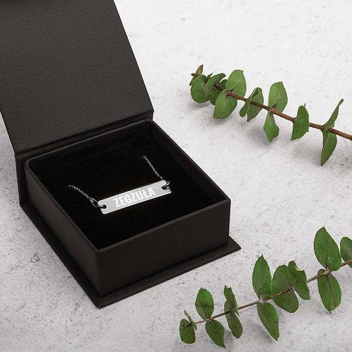 Zegzula Silver Bar Chain Necklace